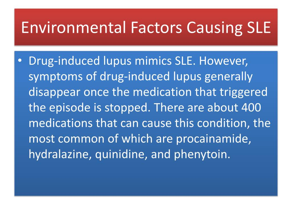 Environmental Factors Causing SLE
