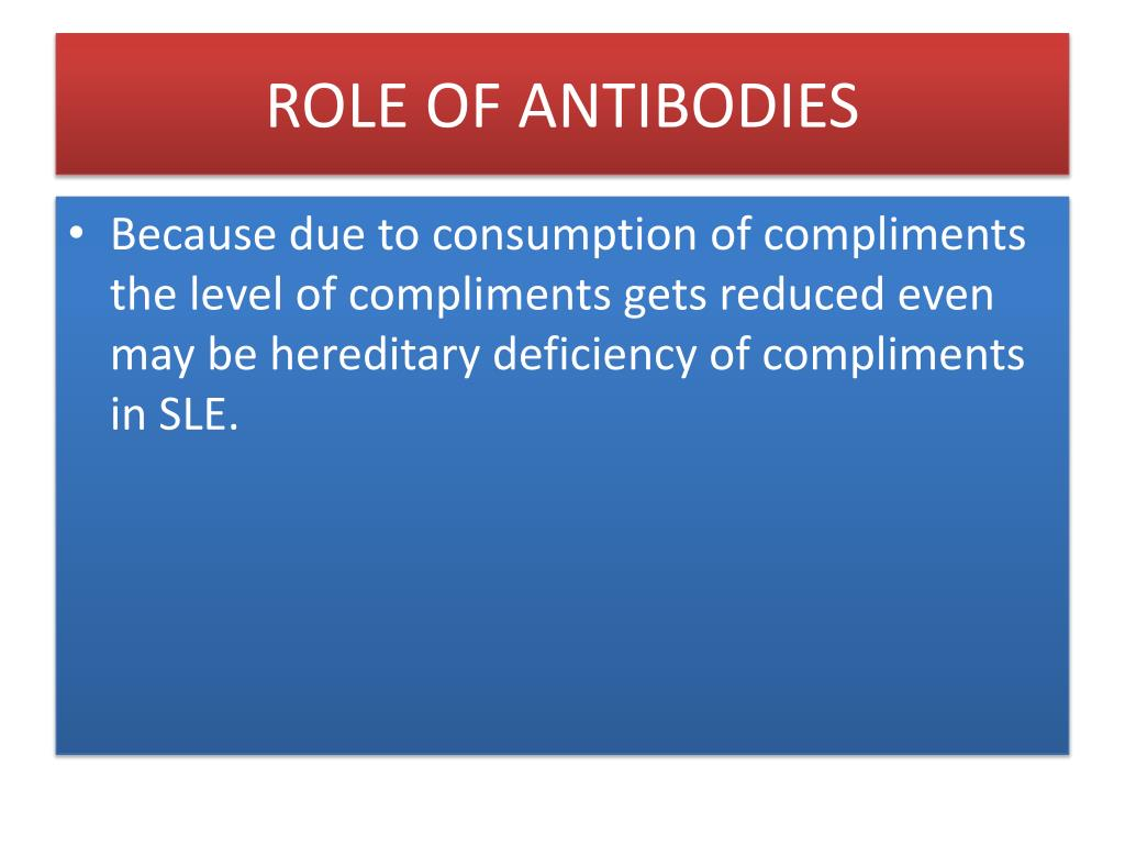 ROLE OF ANTIBODIES