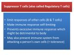 suppressor t cells also called regulatory t cells