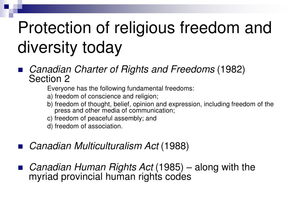 Protection of religious freedom and diversity today
