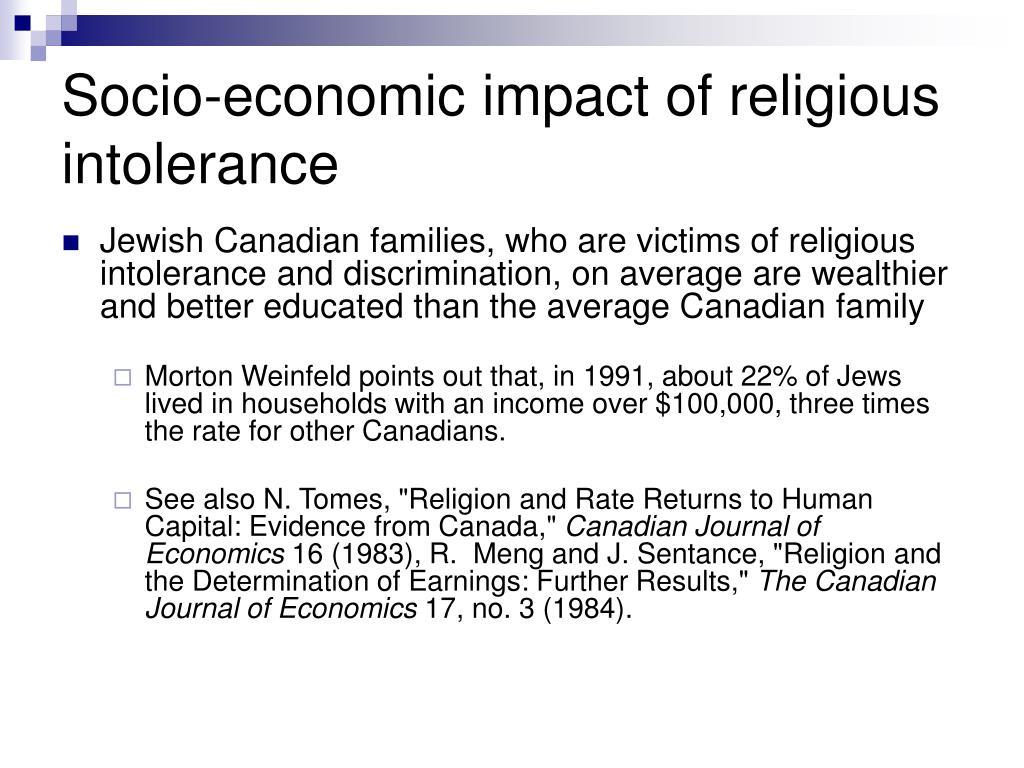 Socio-economic impact of religious intolerance