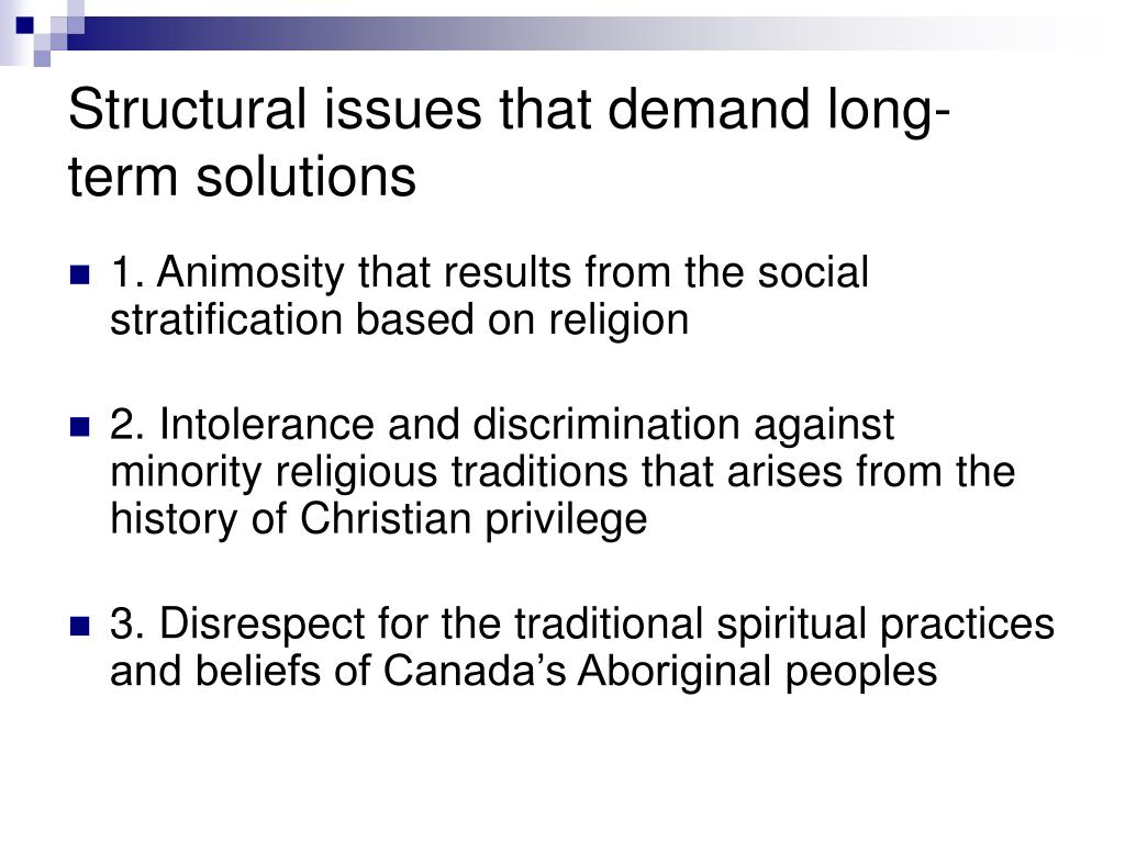 Structural issues that demand long-term solutions