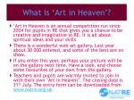 what is art in heaven