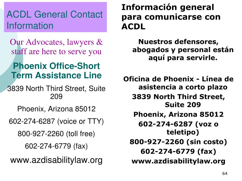 ACDL General Contact Information