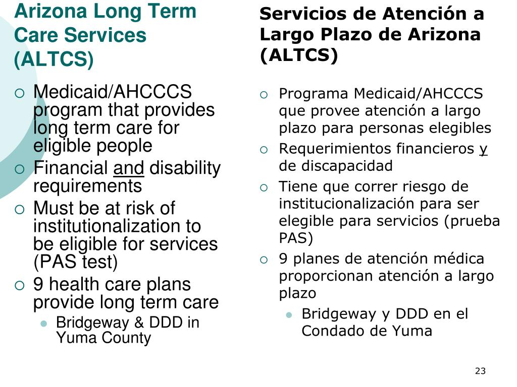 Arizona Long Term Care Services (ALTCS)
