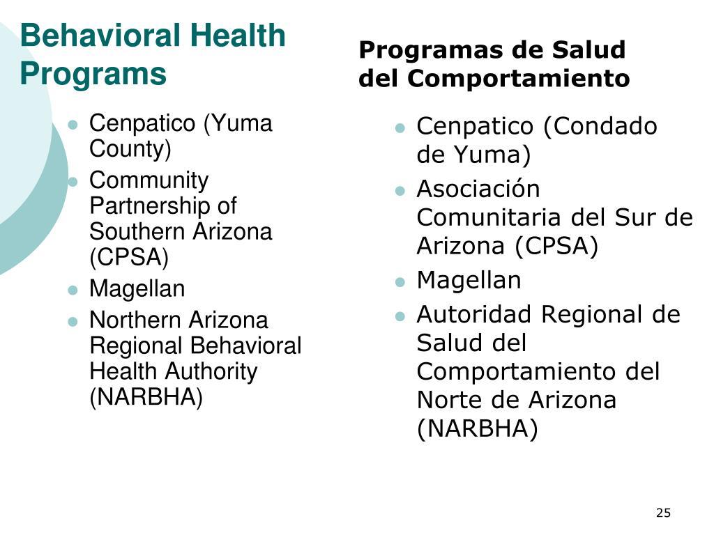 Behavioral Health Programs