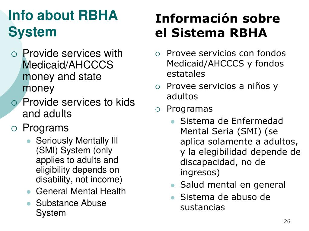 Info about RBHA System