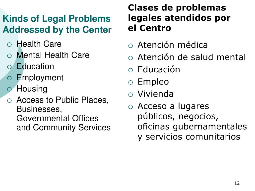 Kinds of Legal Problems