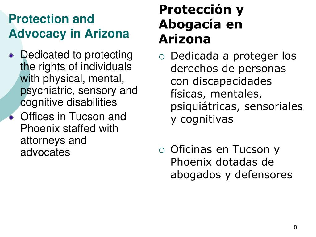 Protection and Advocacy in Arizona