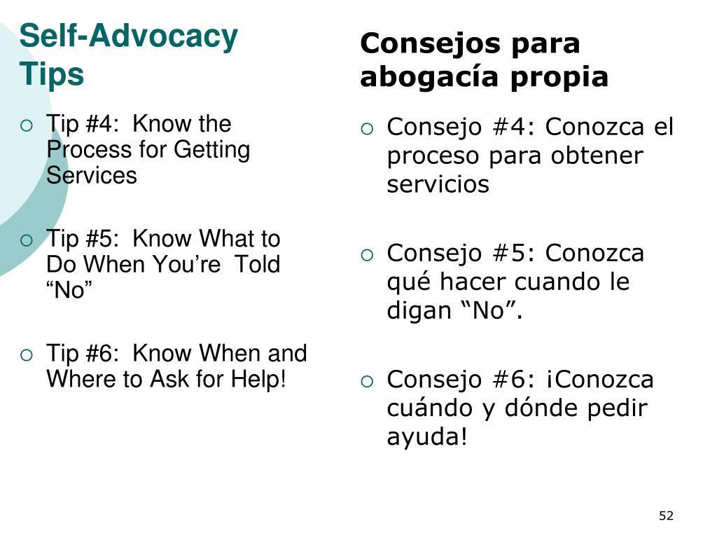 Self-Advocacy Tips