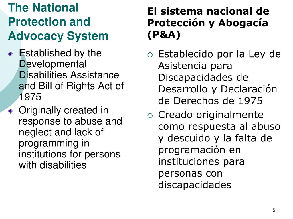 The National Protection and  Advocacy System