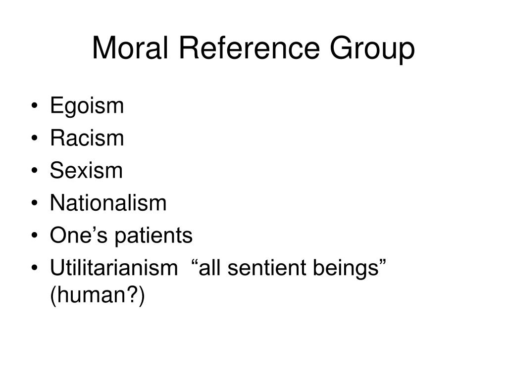 Moral Reference Group
