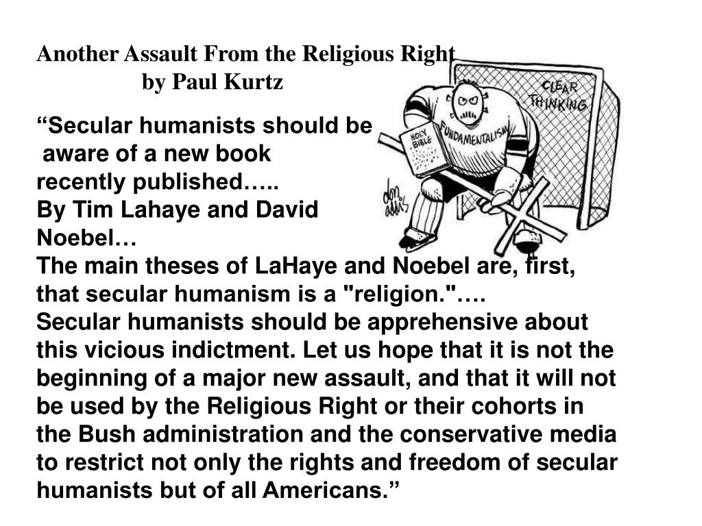 """Secular humanists should be"