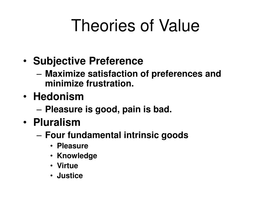 Theories of Value