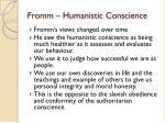 fromm humanistic conscience