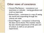 other views of conscience