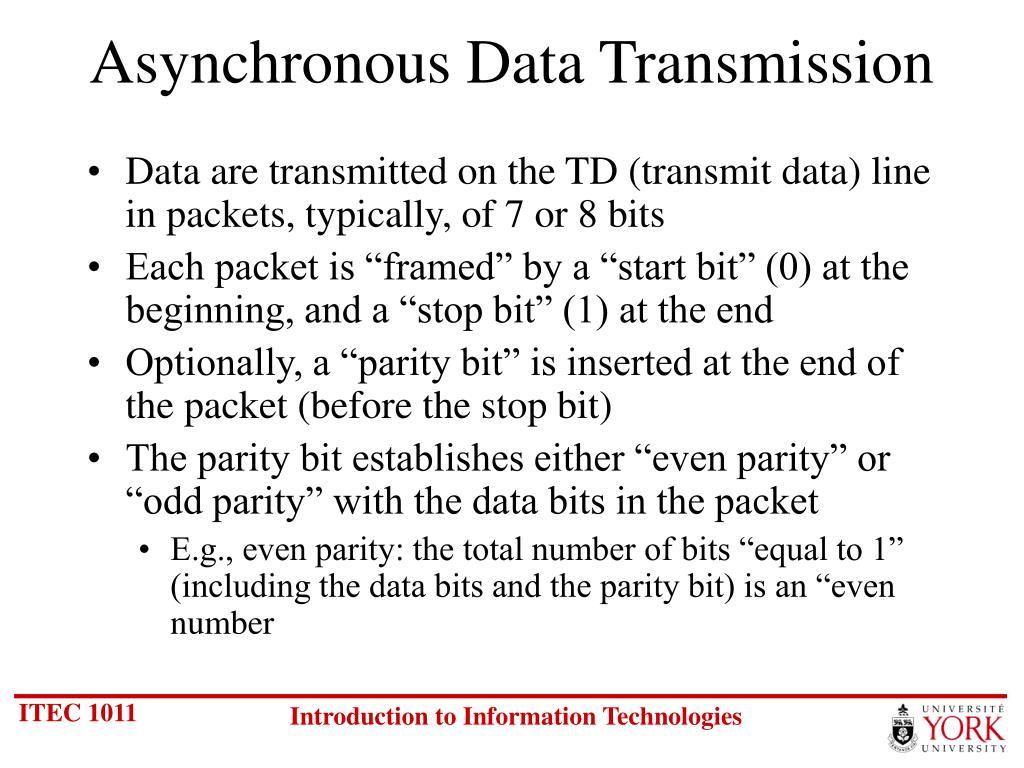 Asynchronous Data Transmission