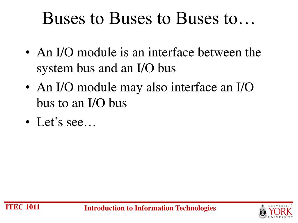Buses to Buses to Buses to…