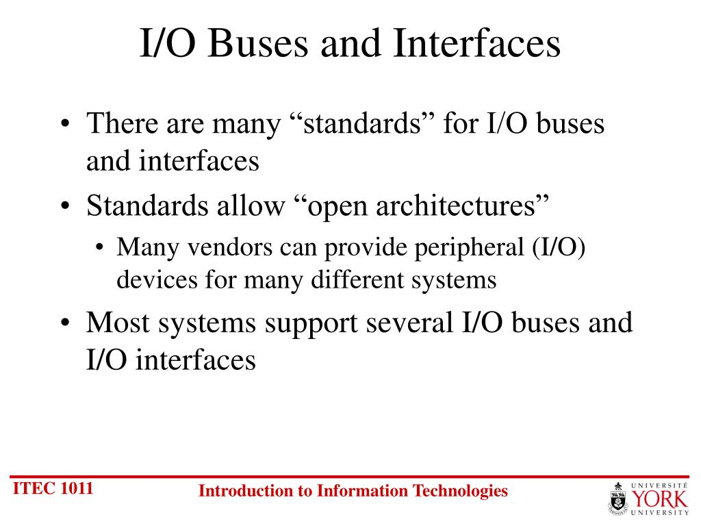 I/O Buses and Interfaces