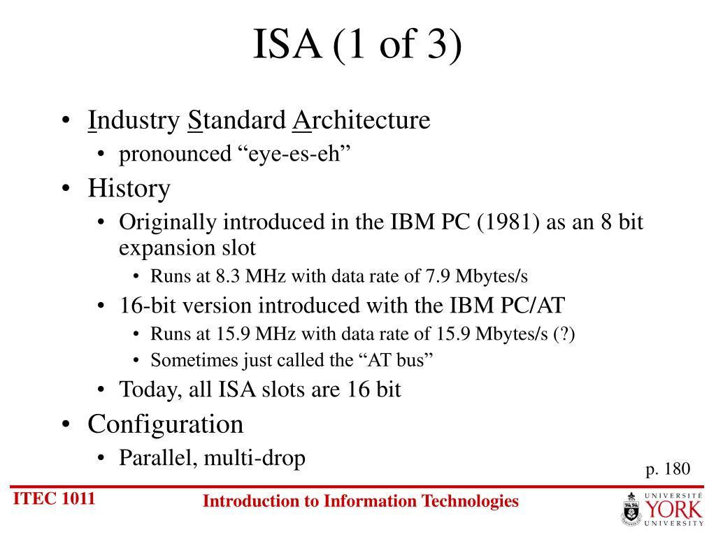 ISA (1 of 3)