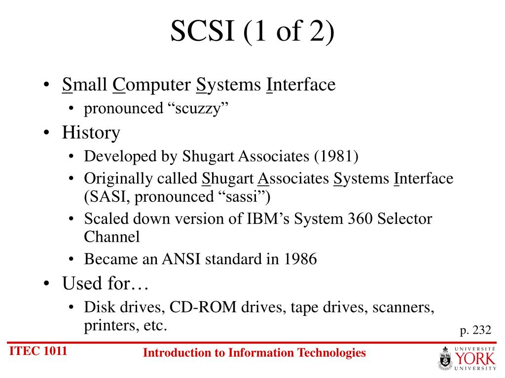 SCSI (1 of 2)