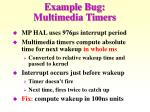 example bug multimedia timers
