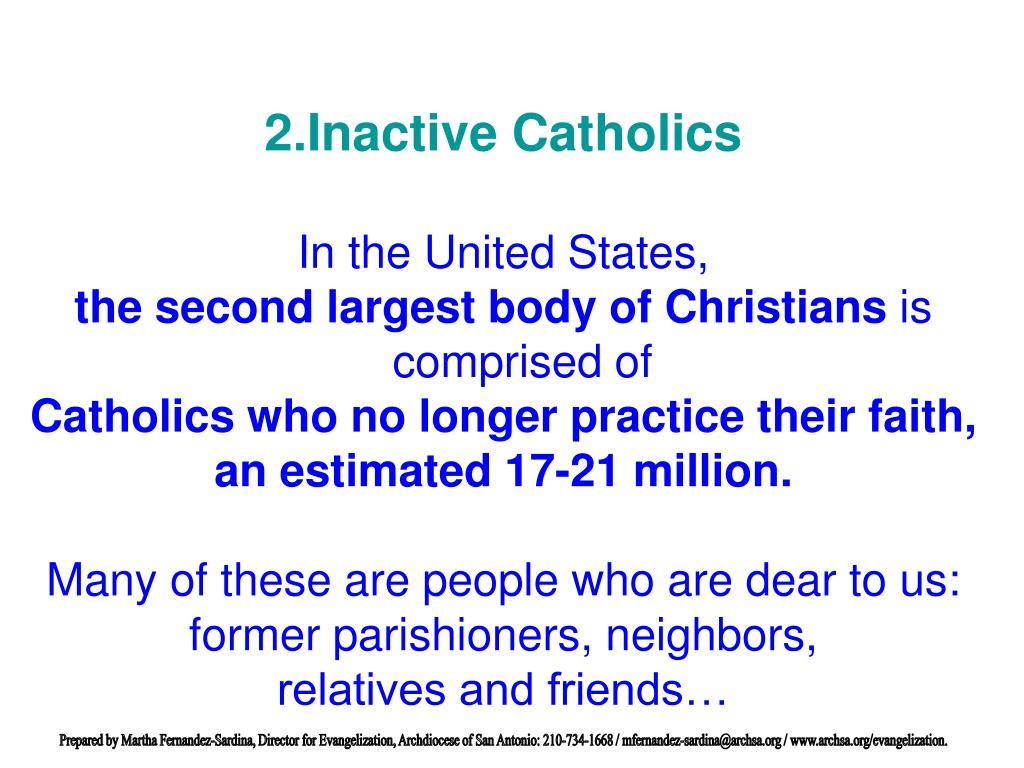 Inactive Catholics