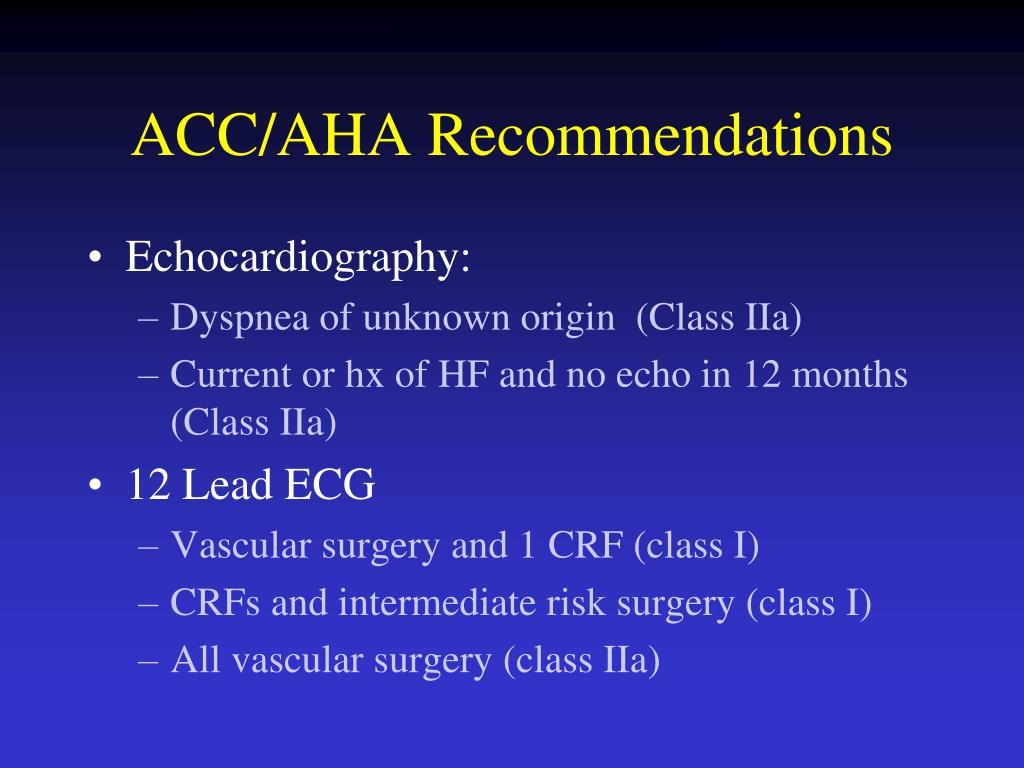 ACC/AHA Recommendations