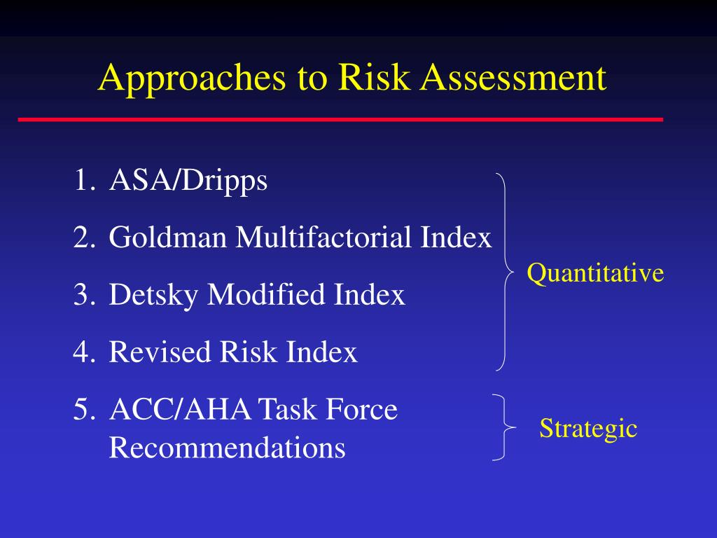 Approaches to Risk Assessment