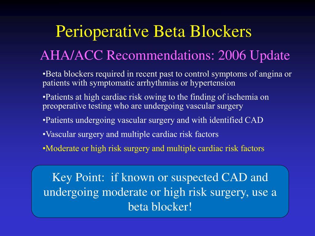 Perioperative Beta Blockers