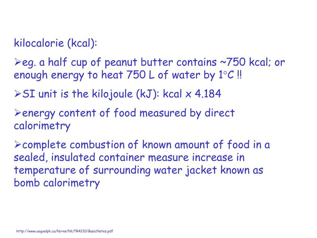kilocalorie (kcal):