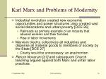 karl marx and problems of modernity