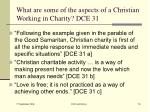 what are some of the aspects of a christian working in charity dce 31