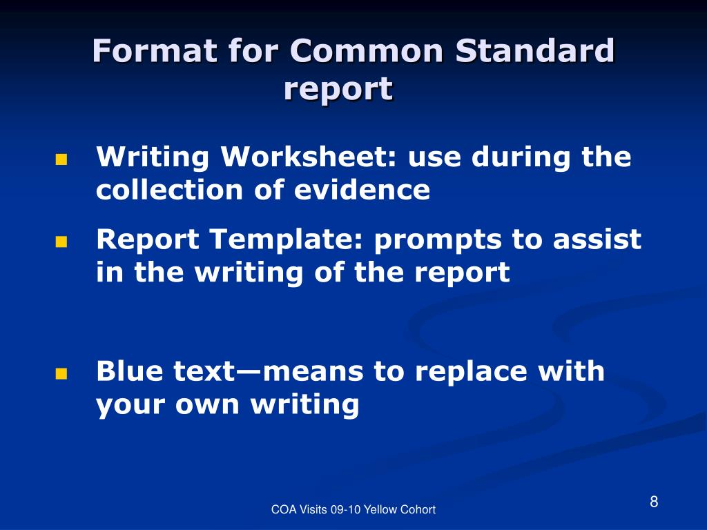 Writing Worksheet: use during the collection of evidence