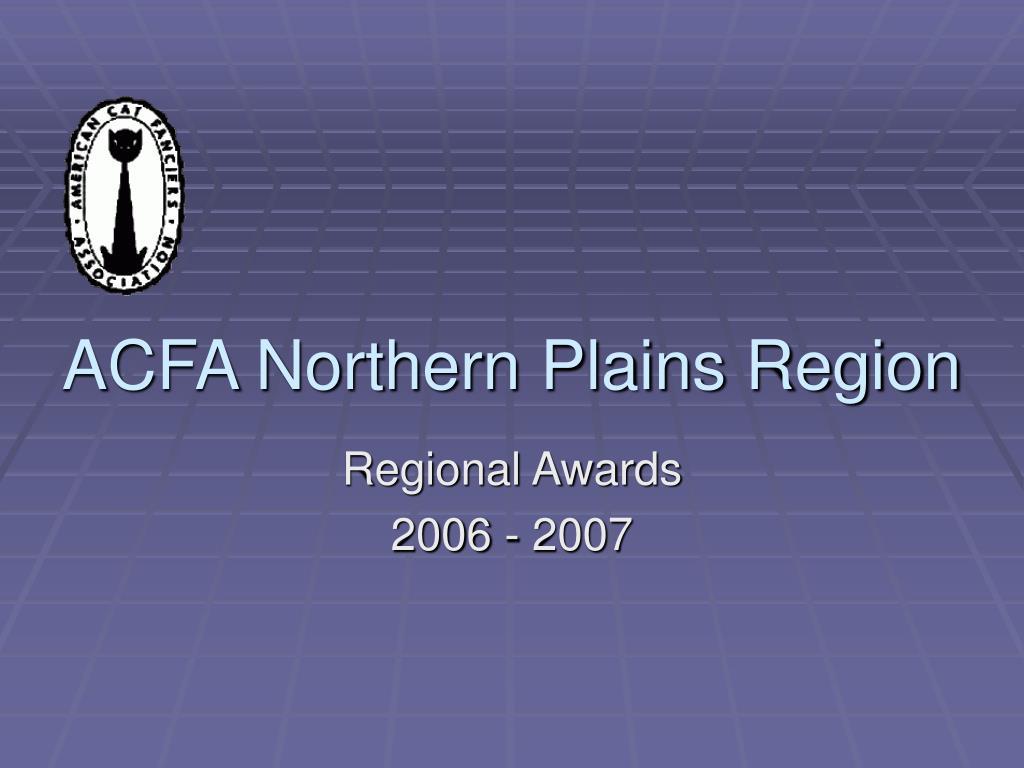 acfa northern plains region l.