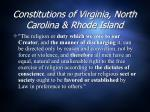 constitutions of virginia north carolina rhode island