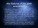key features of the state amendment