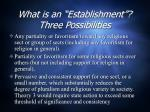 what is an establishment three possibilities