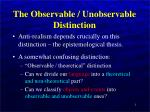 the observable unobservable distinction