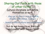 sharing our faith with those of other faiths19