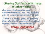 sharing our faith with those of other faiths51