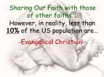 sharing our faith with those of other faiths8