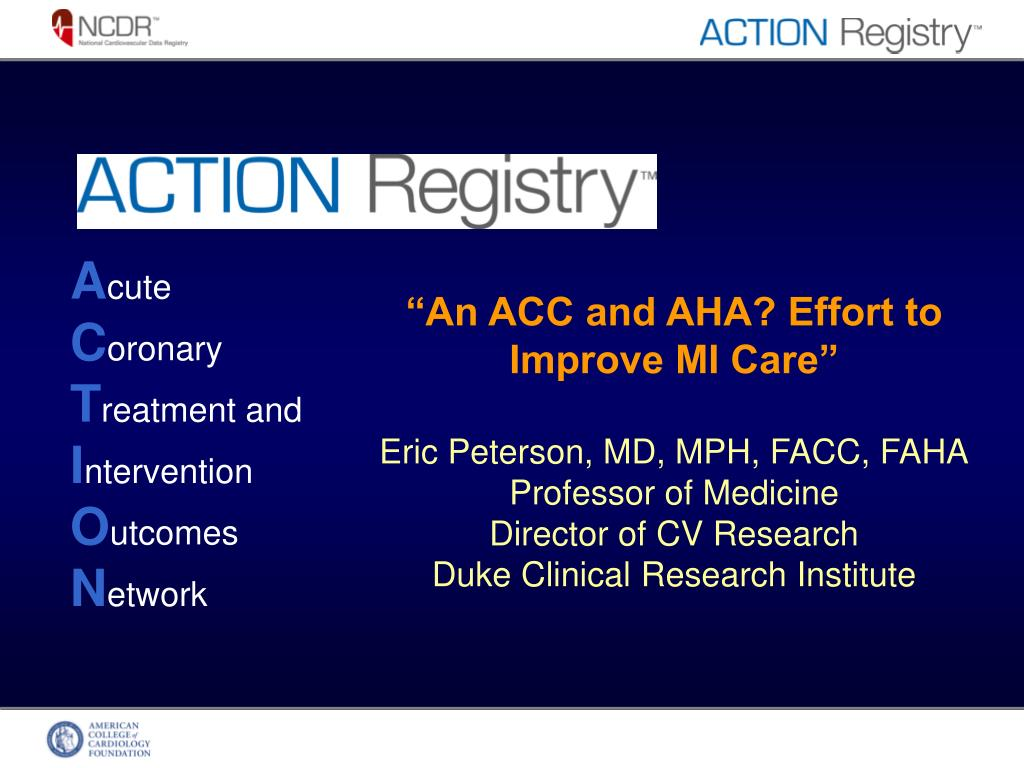 """An ACC and AHA? Effort to Improve MI Care"""
