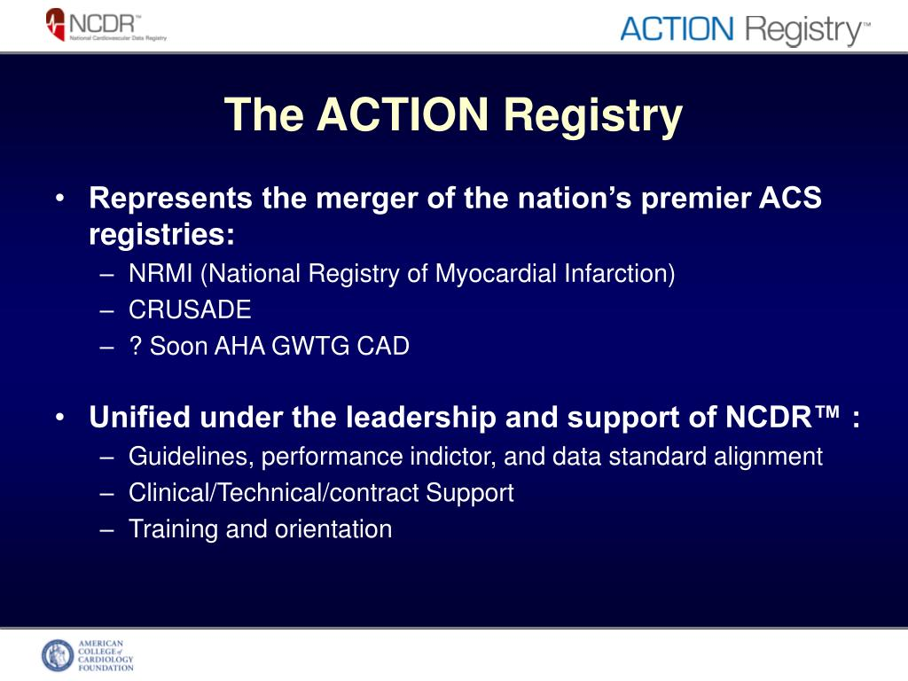 The ACTION Registry