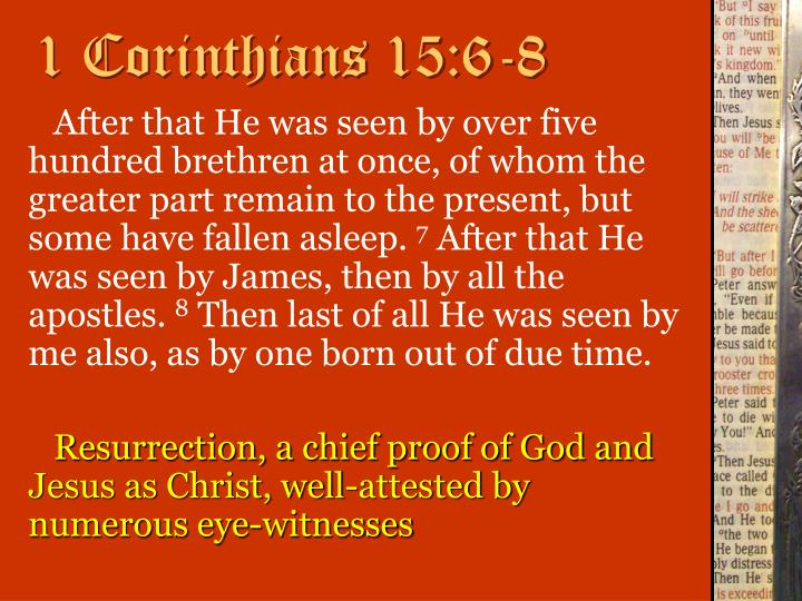 1 Corinthians 15:6-8