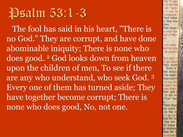 Psalm 53:1-3