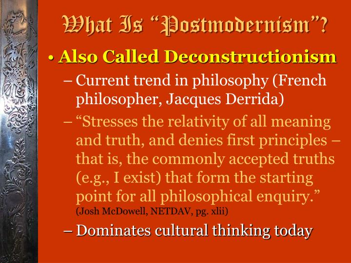 What is postmodernism