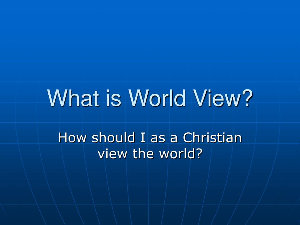what is world view l.