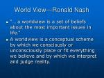 world view ronald nash