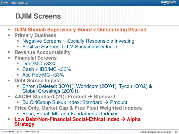 DJIM Screens